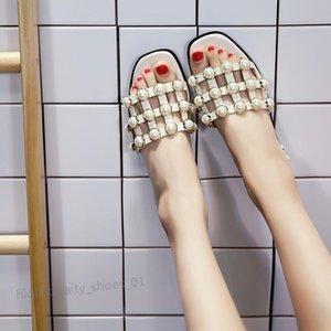 PHYANIC 2018 Frau Sandalen String Bead Fashion Square Zehehefterzufuhren Sommer-Strand-Wohnungen Beleg auf Frauen Schuhe Creepers hococal