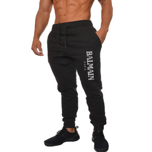 Gentleman PANTALONI BALMAIN Nuovi pantaloni sportivi Autunno Inverno Piedi Uomo Sport Running Pantaloni da basket leggeri Caldi traspiranti