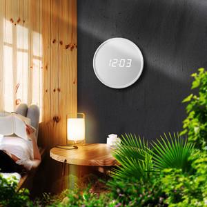 LED Digital Table Clock Alarm Mirror Hollow Wall Clock Modern Design Nightlight Wall Watch For Home Living Room Decoration Gift