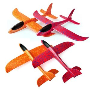 2019 35CM Hand Throw Flying Glider Planes Toys For Children Foam Airplane Model Party Bag Fillers Flying Glider Plane Toys Game