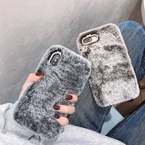 Fashion Case for iPhone XS Max XR X 11 Pro Gift TPU Case Furry fluffy Warm Cover for iPhone 6 6S 7 8 Plus Soft Phone Case
