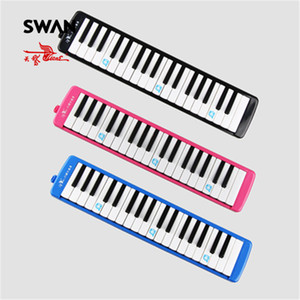 Swan 37 Keys Teaching Performing Melodica Mouth Organ Black Pink Blue Colors Keyboard Musical Instruments Melodicas In Bag