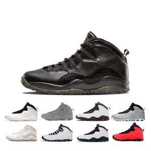 Newest GOOD Tinker 10s Cement men Basketball Shoes 10 Westbrook steel grey I'm back Lazer Blue mens sneaker trainers 7-13