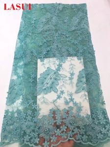 LASUI 5yards /много 8colours Африканская ткань шнурка ткань шнурка Nailbead wide150cm свадебное платье украшения одежды accessoryQ084