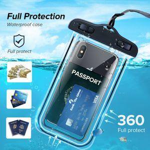 Waterproof Bag Case Universal 6.5 inch Mobile Phone Bag Swim Case Take Photo Under water For iPhone Xs Samsung Huawei