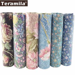Teramila Impreso Tela floral Meter 100% sarga de algodón DIY de coser material del remiendo Telas 6 PCS / 40cmx50cm Tissus Scrapbooking