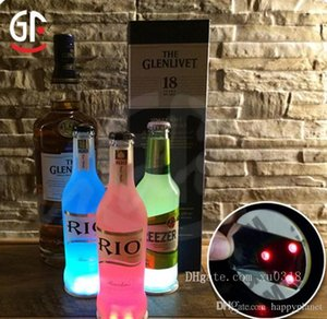 Universal LED Light Bottle Sticker Round Waterproof Flash Coasters Mat Paster High Brightness Ultra Thin Cup Stickers Party Gift 2 5mj BV