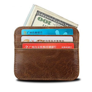 Money Clip, Front Pocket Wallet, Leather RFID Blocking Strong Magnet thin Wallet with 6 Card Holders and 1 Coin Purse
