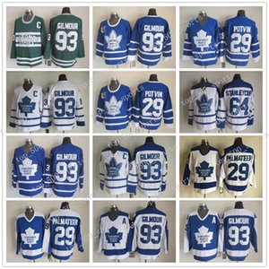 Miglior 93 Doug Gilmour Jerseys Uomini Toronto Maple Leafs 64 Stanleycup 29 Felix Potvin 29 Mike Palmateer Hockey Vintage Classic