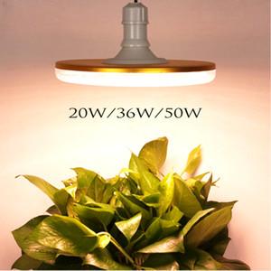 20W 36W 50W UFO LED 빛을 성장 전체 스펙트럼 방수 따뜻한 흰색 실내 E27 Fitolampy 야외 식물 성장 램프 텐트 성장