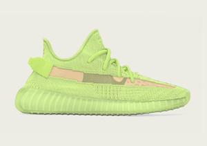 2019 zapatos Resplandor Kanye West para la venta con la caja nueva Kanye West zapatos para correr Desiger niños calzado tienda al por mayor size36-48 el envío libre