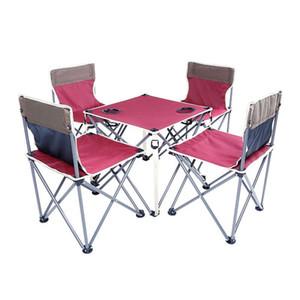 가든 세트 의자와 테이블 철 옥스포드 빠른 배송 녹색 적색 농축 접는 배낭 야외 캠핑 가구 세트
