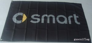 drapeau de course automobile intelligent, 90 * 150CM, bannière intelligente 100% polyester