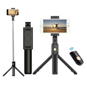 Recentemente 3 in 1 senza fili Bluetooth selfie Stick per iPhone / Android / Huawei pieghevole monopiede palmare scatto remoto allungabile Mini treppiede