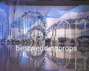 Yeni stil hangging kristal düğün Centerpiece Çiçek Standı koridor yol düğün dekorasyon için kare sütun açar best0495