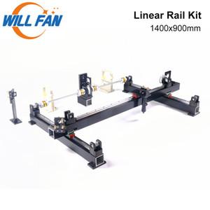 Will Fan 1400x900mm Guia Linear Rail Mecânica Kit Componente cortar a cabeça Monte DIY CNC 1490 Co2 Laser Engraving Cortador de máquina