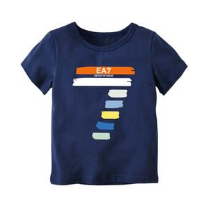 2019 Moda Niño Niña Camisetas niños de los niños de impresión digital camisetas del algodón del niño del bebé vestir de las tapas