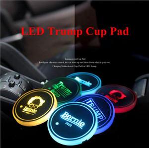 Trump Kupası Pad LED Akrilik Altlıkları Amerikan Başkanı Seçim Renkli Parlak Kupa Mats Trump Araç Kaymaz Mat LJJO7979