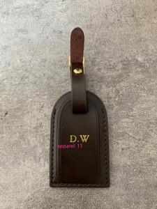 Haute Qualité Personnalisée initiale Etiquettes de bagages estampillage à chaud Voyage Accessoires Valise Tag Sac Business Tag tannés Tag Voyage en cuir