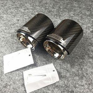 Um PCS do carro de fibra de carbono tubos de rabo de escape para mini cooper F54 F55 F56 F57 F60 R55 R56 R57 R58 R59 R60 R61