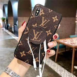 Custodia per iPhone XS Max di design per iPhone X XR 6 7 8 Plus Cover per telefono cellulare iPhoneX Fashion Cover posteriore con impugnature per cavalletto