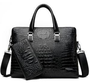 Designer-pu leather briefcases 2018 business laptop bag for men high quality luxury designer men handbag buy one get two send free purse