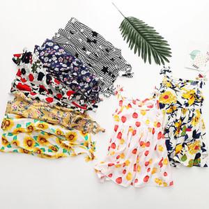아이 소녀 옷 아기 소녀 드레스 아이 디자이너 옷 소녀 꽃 슬링 드레스 2019 여름 패션 suspender 비치 드레스 C6320