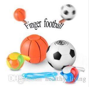 Mão Spinner Basquetebol Futebol Fidget Spinner crianças Adultos Anti-Stress Toy Spinner Com Whistle