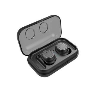 TWS-8 Touch Control Bluetooth 5.0 EDR Earphones IPX5 Waterproof True Wireless Earbuds Sport Headset Mic Charging Box Earhook 12pcs lot