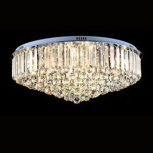 حار مبيعات مستديرة flushmount الكريستال K9 الثريا الحديثة الحد الأدنى مصباح غرفة المعيشة غرفة نوم الثريات