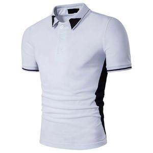 2019 Moda Trend Erkekler Rasgele Saf Renk Basit Slim Fit Golf Tee Kısa Kollu Yeni Yaz İş Holiday Leisure T-shirt Tops