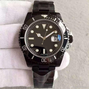 Uhr 40MM Classic SUB Serie Banford all Black High Quality 2813 Automatikwerk Saphirglas Original Faltschließe