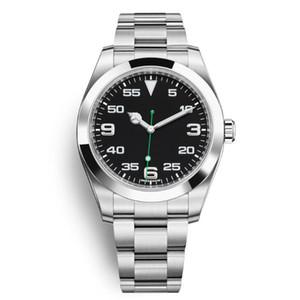 Relógio casual para homens mulheres 36mm moda estilo clássico cinta de aço inoxidável rei relógios automáticos 2813 movimento relógios de pulso cupom