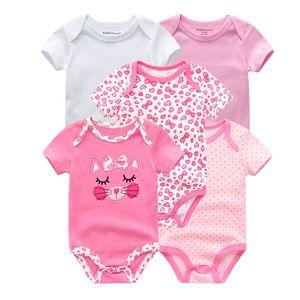 Kiddiezoom Marca Macacão de Bebê Meninas Crianças Macacão Bebe Infantil Recém-nascidos Roupas de Verão 2019 Bebê Meninos Roupas Y19050602
