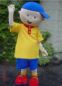 2020 Nova Profissão Caillou menino Mascot Mascot trajes de Halloween dos desenhos animados adultos Meninos Fancy Dress Partido frete grátis