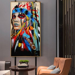 Девушка огромная живопись маслом на холсте домашний декор Heal Handpainted / HD-печать настенные изображения Фотографии настроен приемлемы 21051305