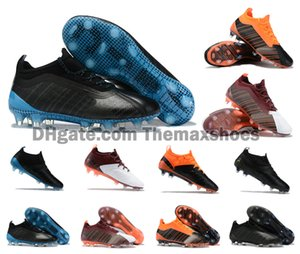 2019 New Arrivaled One 5.1 FG / AG FG David Silva Sergio Aguero Football Football Chaussures vin Envoyer Trailblazer Crampons Blanc Orange Taille 39-45