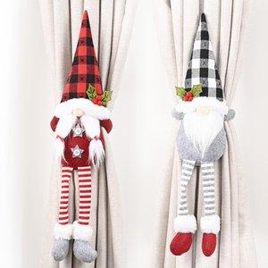 Cartoon Forêt Vieillard rideau Boucle Faceless Poupée rideau Tied corde personnalité Décorations de Noël pour fêtes de Noël