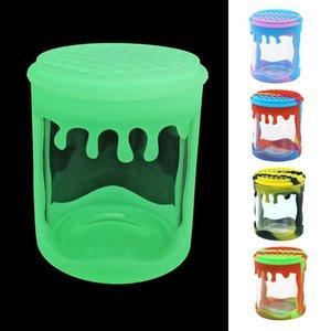100ml de exibição frasco de vidro Recipiente de vidro strawn mel garrafa frasco erva para fumar armazenamento de tubos utilizados Via DHL