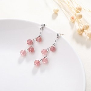 Accessoires de filles 100% authentiques Sterling Gemstone Earrings 925 Crystal Fashion Jewelry