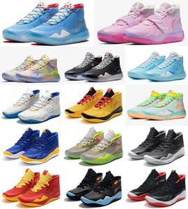Hot Kevin Durant KD XII 12 Tante Pearl White Ink Spritzwasser Tinte All Stars Basketball-Schuhe für Mens 12s Sport-Turnschuhe Größe 40-46