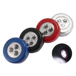 3LEDs Night Light Cupboard magnético sem fio Corredor Lamp Lâmpadas Stair Closet Cabinet Light Touch Mudar Night Lights para o miúdo