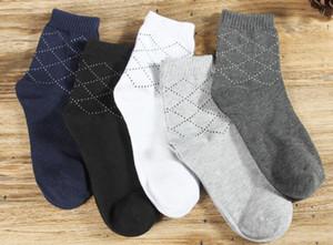 Erkek İlkbahar Sonbahar Çorap Spor Atletik Katı Pamuk Nefes Çorap