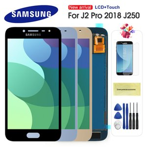 For Samsung Galaxy J2 Pro 2018 J250 j250m SM-J250 LCD Display Touch Screen Digitizer Replacement With Frame Adjustable Brightnes