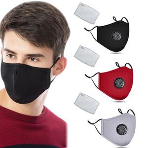 Designer Gesichtsmaske Baumwolle Gesichtsmasken Mode Luxus Anti PM2.5 Staub Anti-Smog Staub Nebelmasken mit Ventil Masken Atem