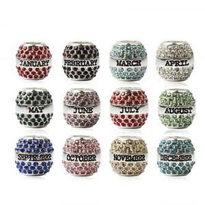 Livraison Gratuite NOUVEAU Style Occident Cristal Perles Deux mois Charms Charmes Cadeaux d'anniversaire Forme Pour Femmes Hommes Bracelet Bracelet Bijoux Accessoires