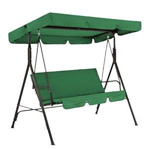 Cadeira de Baloiço capa impermeável Almofada dobrável Pátio Quintal Outdoor substituição do assento (verde escuro)