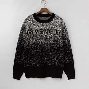 Diseñadores Hombres Mujeres ocasional del suéter de lana de lujo sólido Winter Pullover Marca blusa de manga larga SweatShirt Negro Gris M-2XL 99181CE