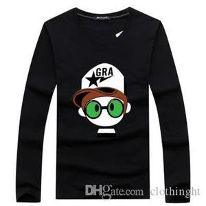 Nuovo arrivo 2018 Autunno Uomini 3D Stampato a maniche lunghe T-shirt modello animale di modo maschio hip hop maglietta unisex Camicie Streetwear
