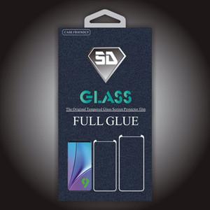 حالة الغراء لاصقة كاملة ودية الزجاج المقسى 5D منحني لسامسونج غالاكسي S10 S10E S9 ملاحظة 9 8 S8 زائد لفون مع حزمة البيع بالتجزئة